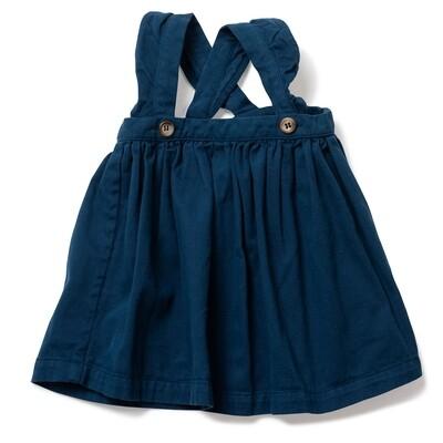 Bichette Velvet Skirt with Suspenders Charcoal grey