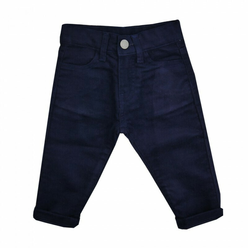 Navy Moleskin Pants