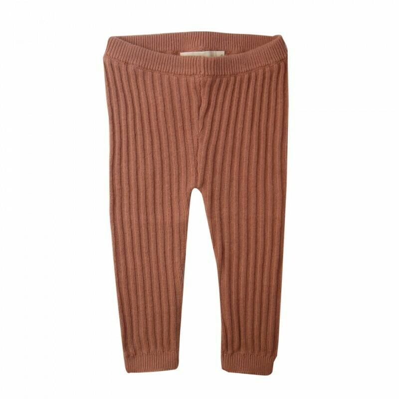 Brown Rib Leggings