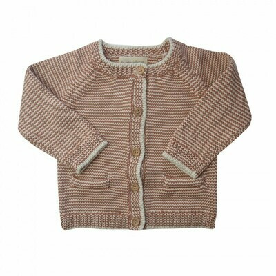Brown Striped Thick Cardigan