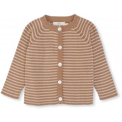 Meo Cotton Cardigan - Sahara / Rice