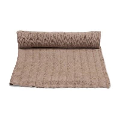 Blanket, Pointelle Deux - Brown Melange