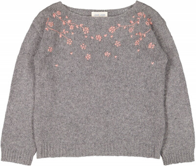 Roxy Pull, Knitted Wool, Marled Grey