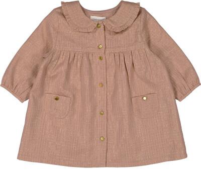 Ombeline Dress, Check Lurex, Dark Pink