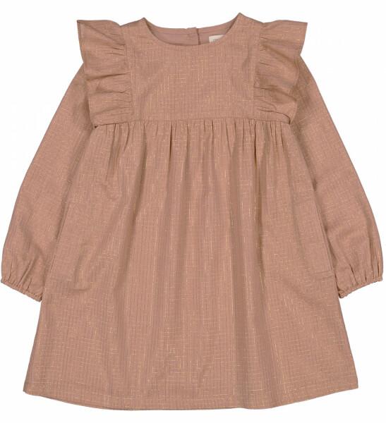 Leonette Dress, Lurex Check, Pink