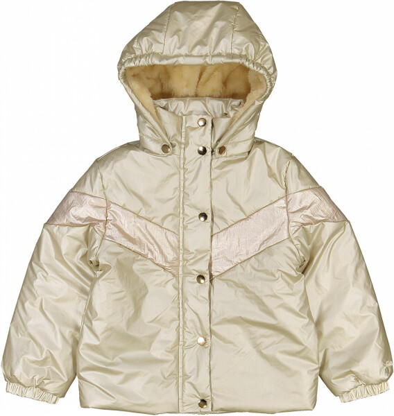 Disquette Jacket, Metallic Canvas, Light Gold/Pink
