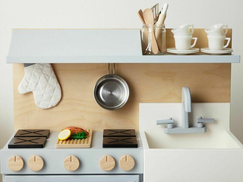 Essential Play Kitchen Hood - Gray