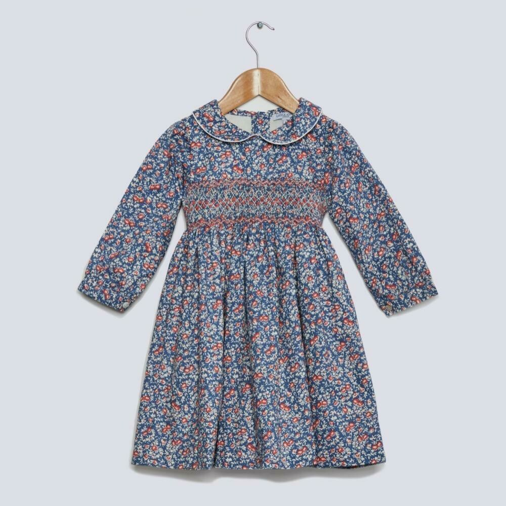Rosehip Dress - Blue Floral