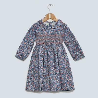 Rosehip Dress - Blue Floral