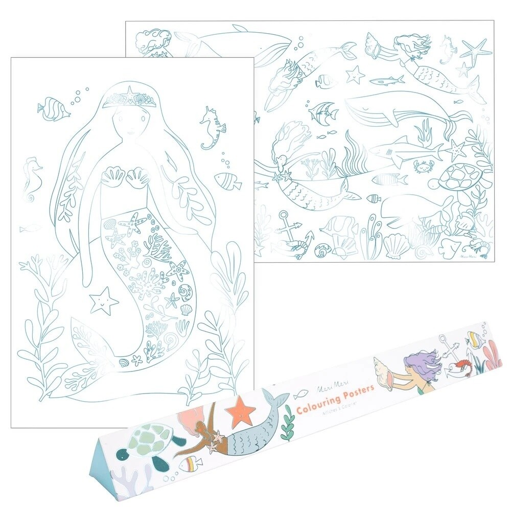Mermaid Colouring Posters