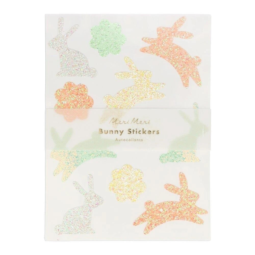 Glitter Bunny Stickers
