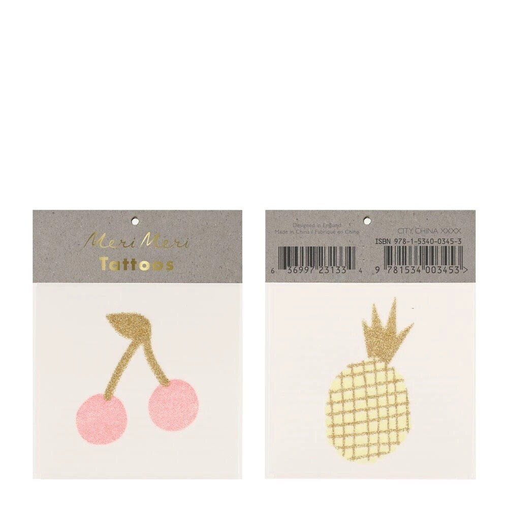 Small Tattoos, Cherry & Pineapple