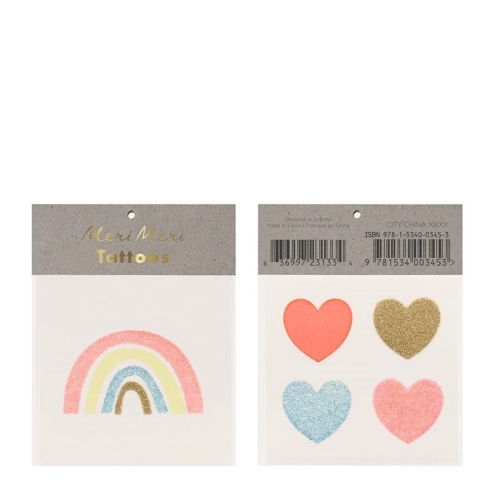 Small Tattoos, Rainbow & Hearts