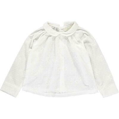 Norma Shirt, White Flowers