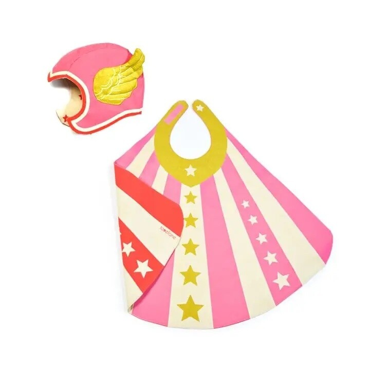 Hero Cape and Hat Set, Pink