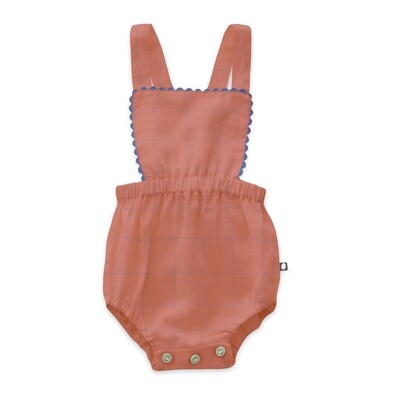 Ric Rac Playsuit, Punch Pink