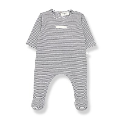 Didac Footie Jumpsuit, Anthracite