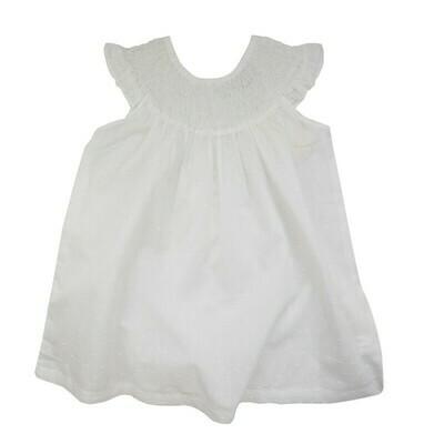 Smocked Dress-Swiss Dot