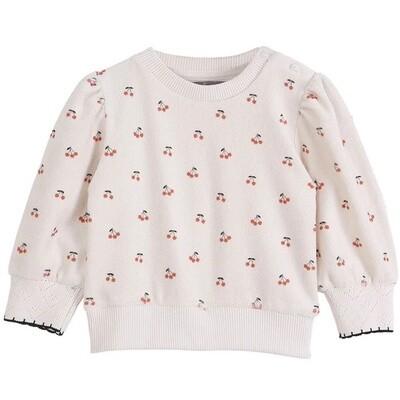 Ecru Cerise Cherry Sweatshirt