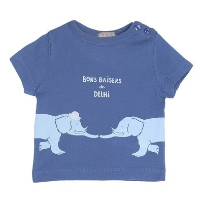 From Delhi with Love T-Shirt Azure blue
