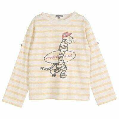 Vanilla Stripe Tiger Tee Shirt