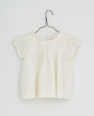 Ella Blouse, Ivory Cotton