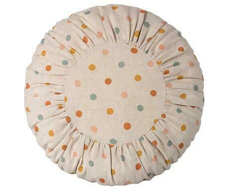 Large Round Cushion, Multi Dots