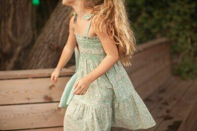 Loraine Dress, Blue Green