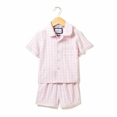 Pink Gingham Short Set