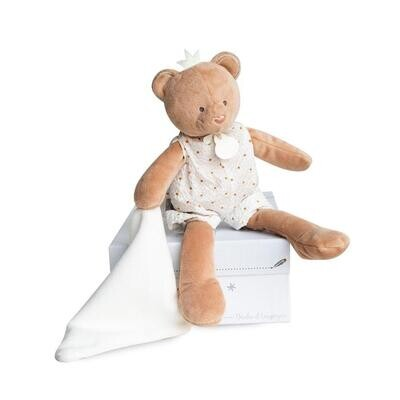 Doudou et Compagnie Dream Maker King Bear Plush With Blanket