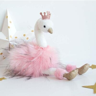 Histoire D'ours Pink Glitter Swan