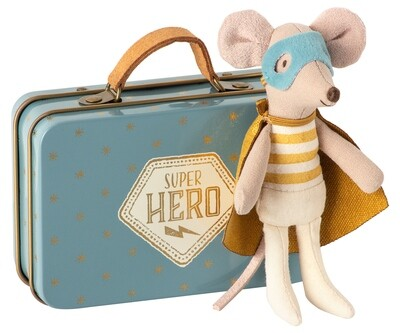 Superhero Little Brother Mouse (in Suitcase)