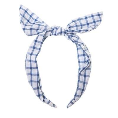 Picnic Check Tie Head Band