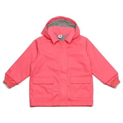Baby Girl Hooded Rain Jacket, Pink