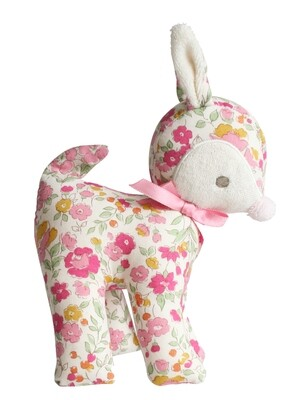 Baby Deer Rattle-Blossom Lily Pink