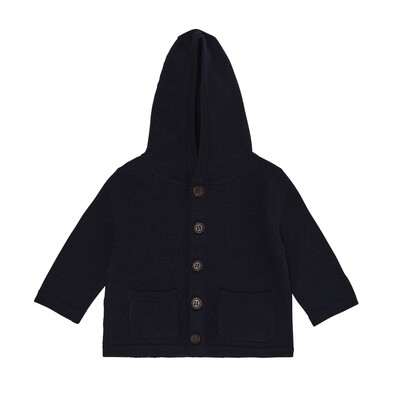 Baby Felted Jacket, Dark Navy
