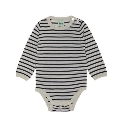 Baby Legless Bodysuit, Ecru / Dark Navy