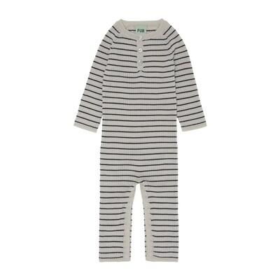 Baby Bodysuit, Ecru / Dark Navy