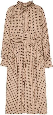 Women's Claude Dress, Blush with Black Dots
