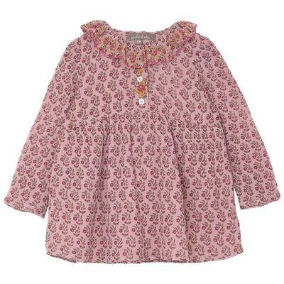 Baby Dress, Pink Daisy