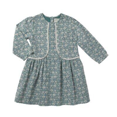 Eglantine Dress, Green Grey