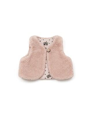 Sherpa Baby Vest - Pink