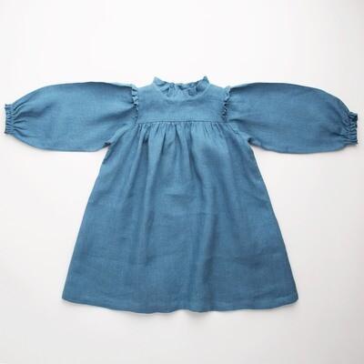 Marble Dress, Cornflower Blue