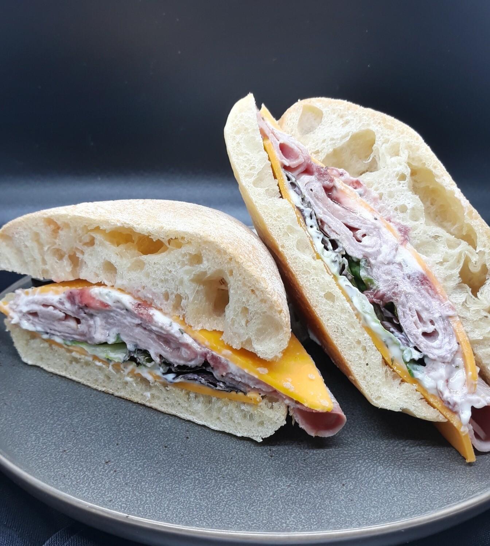 Mixed Berry Ham & Cheddar Sandwich