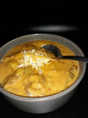 Cold Bowl Cheesy Potato Soup
