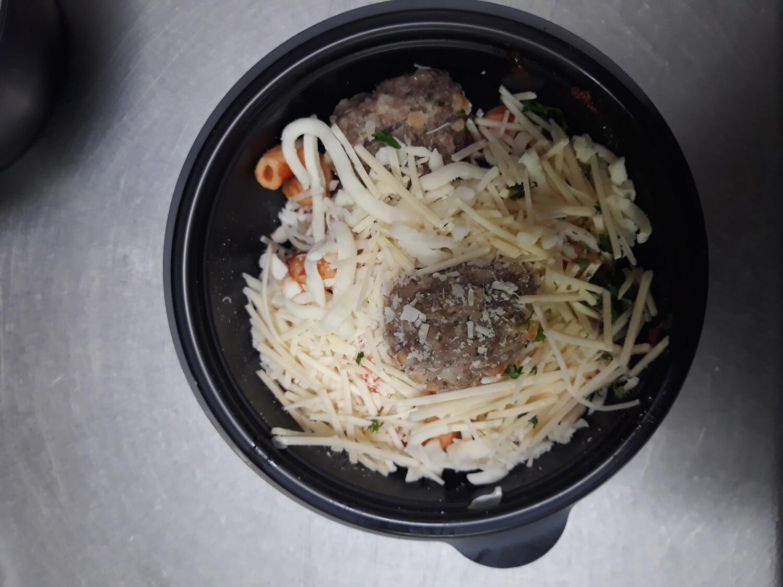 Cavatappi & Meatballs Mini