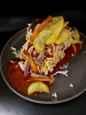 Veggie Lasagna W/ Alfredo