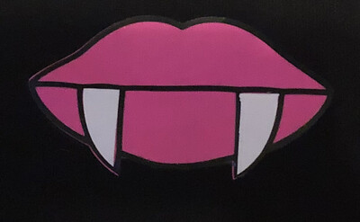 Black Mask/ Pink Glow In The Dark Vampire Lips