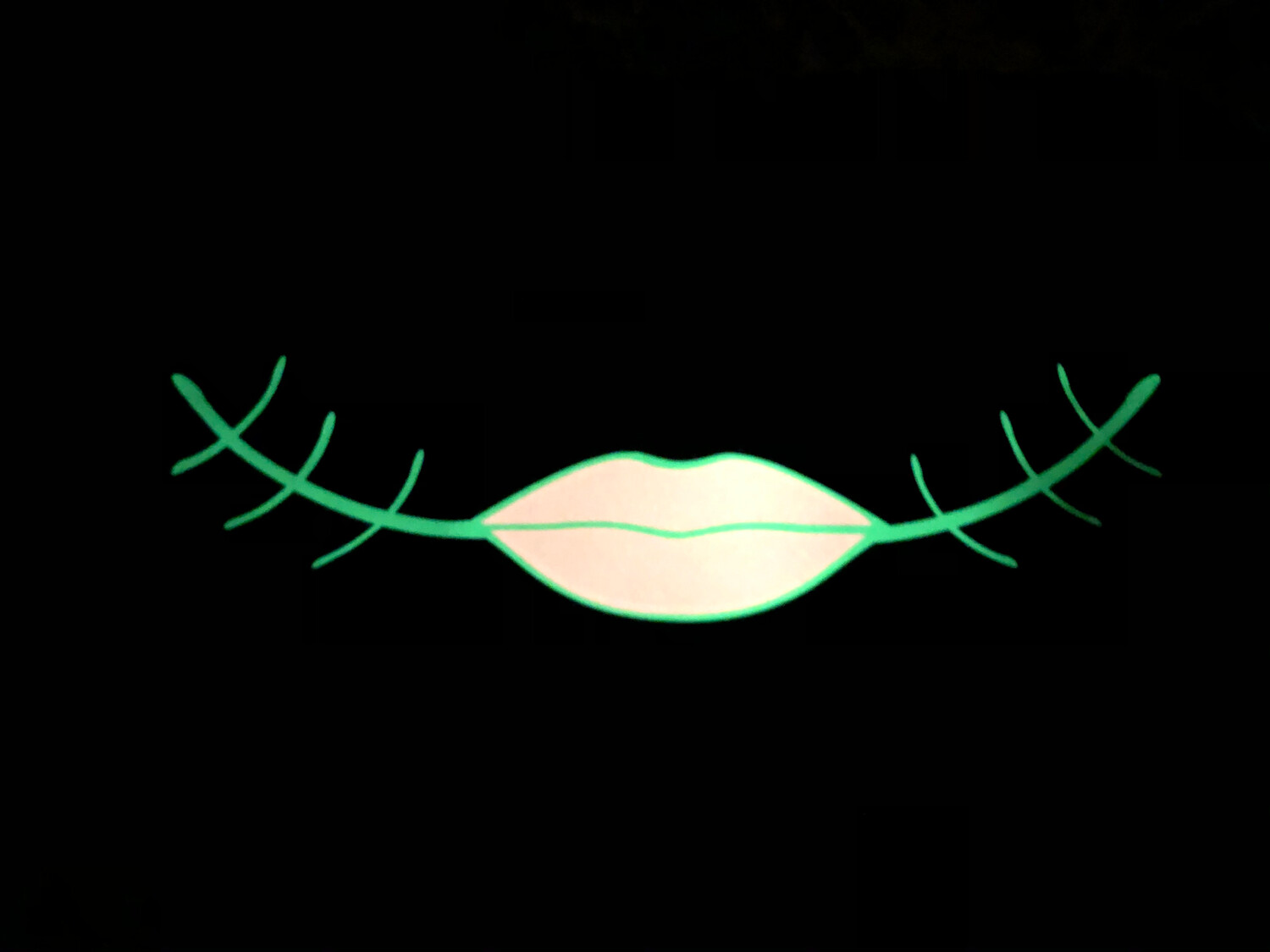 Black Mask/Glow In The Dark Halloween Lips