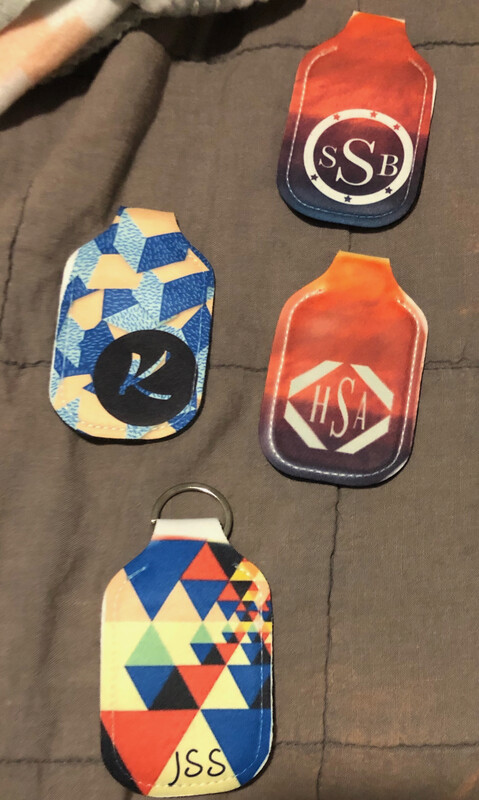 Personalized Initial-Hand Sanitizer Holder Keychain